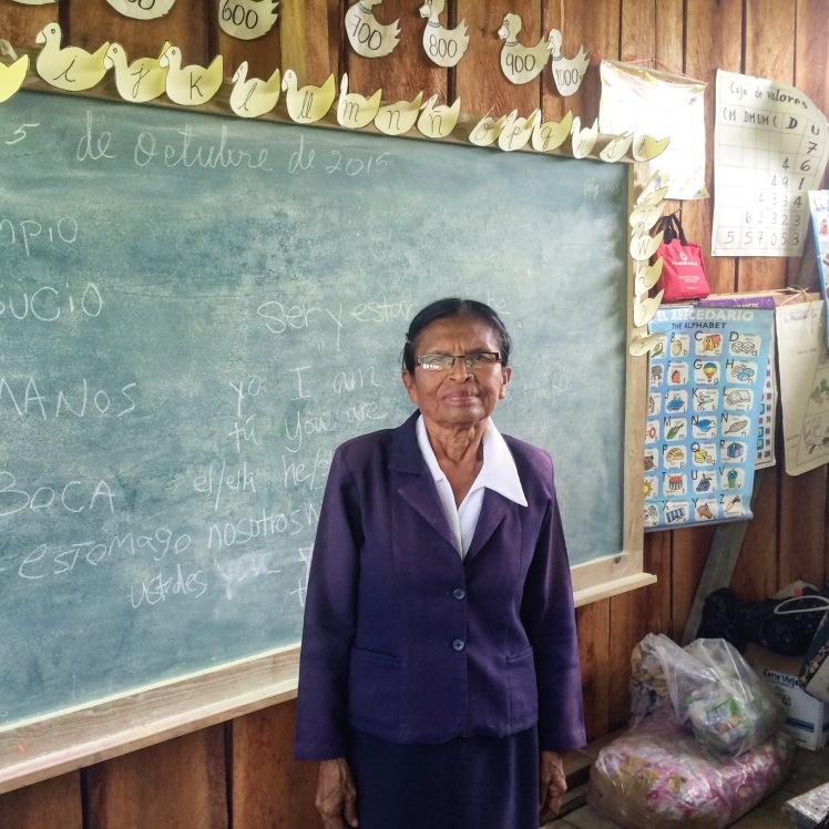 Justa, the school teacher at the new Ngobe school
